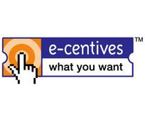 e-centives图案英文字母LOGO设计