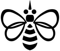 蜜蜂矢量标志