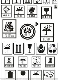 纸箱标识图标