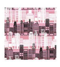 粉色的房子轮廓背景矢量素材
