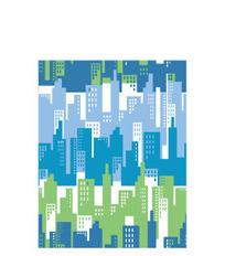蓝色的房子简笔画背景矢量素材