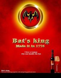 bat's king葡萄酒海报