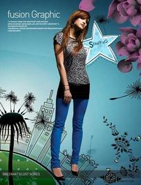 购物服装海报设计