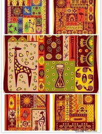 古典非洲部落图腾矢量素材