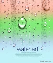 韩国最新水滴--水珠背景