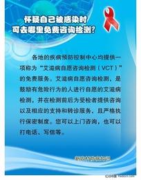 艾滋病防治图 怀疑自己被感染时可曲哪里免费咨询检测