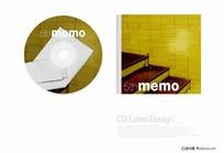 卡片背景CD光盘包装设计
