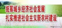 统筹城乡经济社会发展宣传广告牌设计