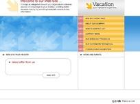 简洁蓝色调  网页模板