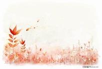 手绘秋天风景