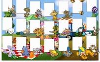 卡通动物边框儿童相册模版