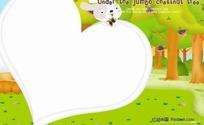 兔子心形儿童相册模版