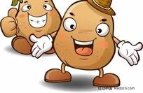 伸大姆指的土豆俩