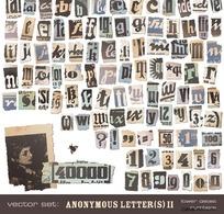 撕纸效果的英文字母1