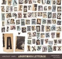 撕纸效果的英文字母2