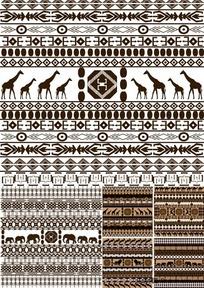 南非风格图案背景矢量素材