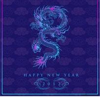 中国龙纹图案背景