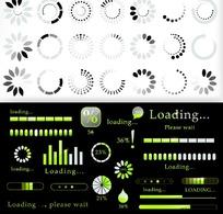 网页常用元素矢量素材  loading