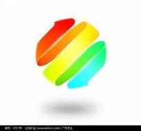 彩色螺旋线条球体