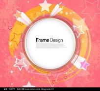 圆形动感标题框元素