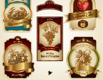 欧式复古风格标签