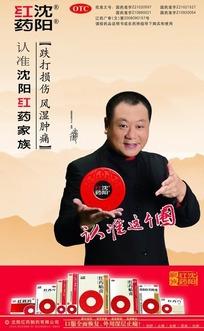 沈阳红药店内海报