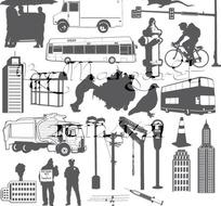 城市日常生活图案