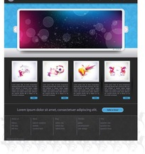 简约网页设计模板矢量素材