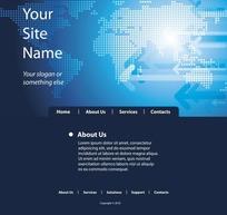 科技感网页模板