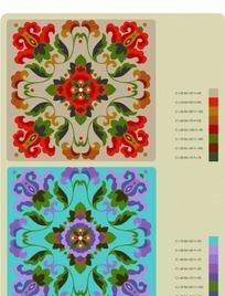 装饰花纹纹样矢量素材