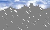 下雨雷电透明flash素材