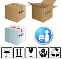 纸箱图标设计