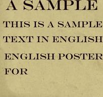 大气的英文海报字体  平面设计专用 广告字体