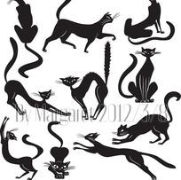 玩耍的猫咪图案