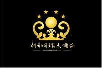 明珠大酒店标志设计psd分层 皇冠标志 浪花标志