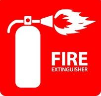 消防灭火器标志矢量素材