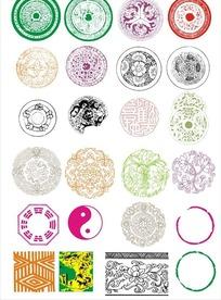 整体圆形古典图案