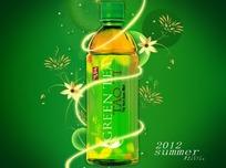 绿茶饮料广告PSD分层素材