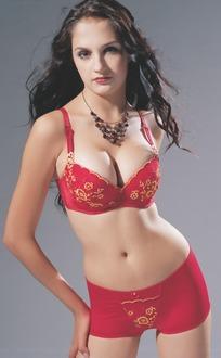 红色内衣丰满美女模特