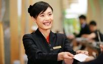微笑服务的女客服