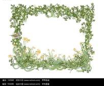 花藤组成的好看花框