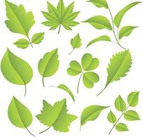 绿色树叶矢量素材
