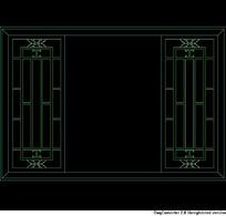 中式窗CAD立面图