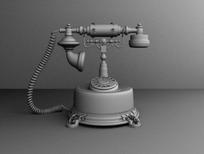3D老式电话机模型