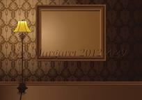 欧式灯具相框家居场景