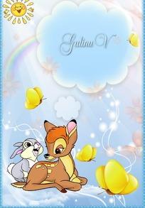 卡通可爱动物相框PSD分层素材