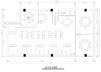 餐厅二层平面布局图