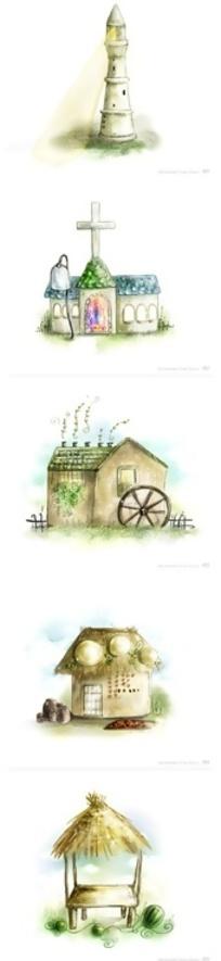 PSD房子造型卡通小图标