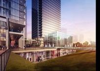 城市景观效果图PSD