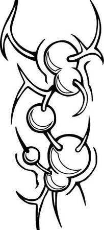 蝎子抽象圖案標志logo